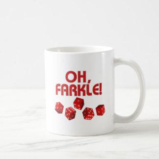 ¡Oh, Farkle! Taza Básica Blanca