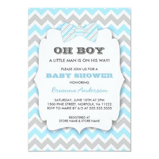 OH fiesta de bienvenida al bebé de Bowtie/galón Invitación 12,7 X 17,8 Cm