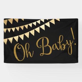 Oh fiesta de bienvenida al bebé del bebé lona