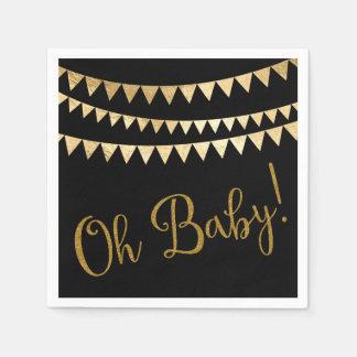 Oh fiesta de bienvenida al bebé del bebé servilleta de papel