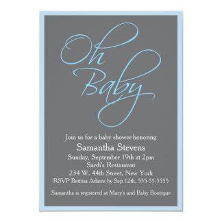 Oh fiesta de bienvenida al bebé elegante del bebé invitación 12,7 x 17,8 cm