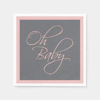 Oh fiesta de bienvenida al bebé elegante del bebé servilletas de papel
