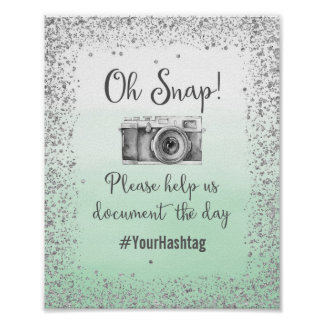 Oh impresión rápida del poster del boda de Hashtag