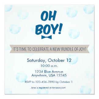 ¡Oh! Invitación de la fiesta de bienvenida al bebé