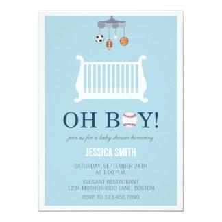 Oh invitación de la fiesta de bienvenida al bebé
