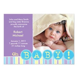 Oh invitación de la violeta del bebé