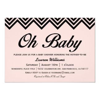 Oh invitaciones de la fiesta de bienvenida al bebé invitación 12,7 x 17,8 cm