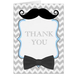Oh la fiesta de bienvenida al bebé del bigote le tarjeta pequeña