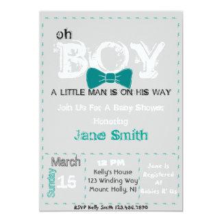 Oh la fiesta de bienvenida al bebé invita invitación 12,7 x 17,8 cm