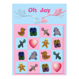 Oh las formas del bebé de las cigüeñas de la postal