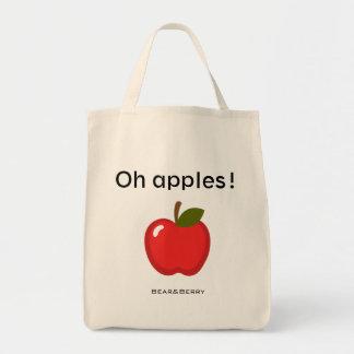 ¡Oh manzanas! bolso de ultramarinos Bolsa Tela Para La Compra