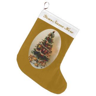 Oh, media grande del árbol de navidad calcetín de navidad grande
