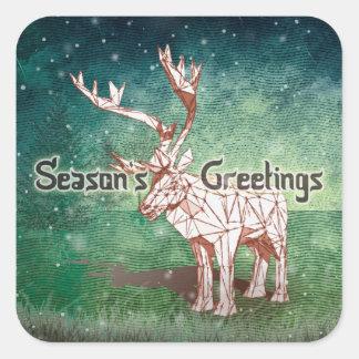 ¡Oh mis Felices Navidad de Deer~! pegatinas del   Pegatina Cuadrada
