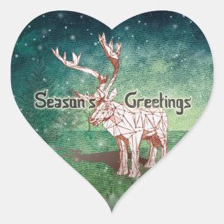 ¡Oh mis Felices Navidad de Deer~! pegatinas del   Pegatina En Forma De Corazón