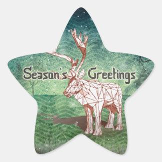 ¡Oh mis Felices Navidad de Deer~! pegatinas del   Pegatina En Forma De Estrella