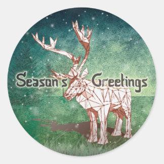 ¡Oh mis Felices Navidad de Deer~! pegatinas del   Pegatina Redonda