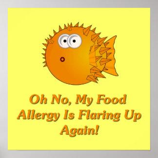 ¡Oh ningún, mi alergia alimentaria está señalando  Póster