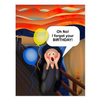 Oh ningún olvidé su cumpleaños la parodia del postal