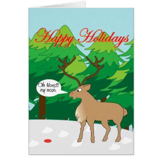 oh no 2 tarjeta de felicitación