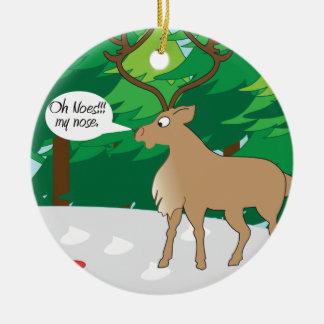 oh no mi ornamento de nariz adornos de navidad