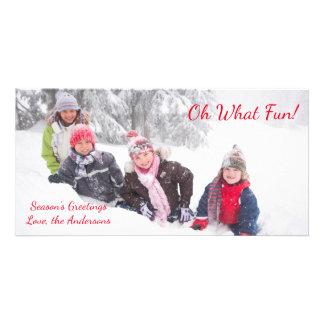 Oh qué diversión - tarjeta de la foto tarjetas fotográficas personalizadas