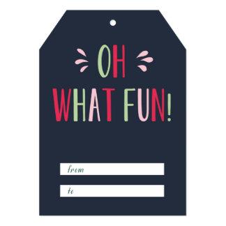 Oh qué etiqueta del regalo de la diversión invitación 12,7 x 17,8 cm