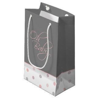 Oh regalo elegante del bebé del bebé para el chica bolsa de regalo pequeña