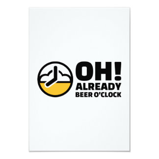 Oh ya en punto de la cerveza invitacion personalizada