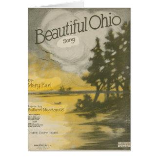 Ohio hermoso tarjeta de felicitación
