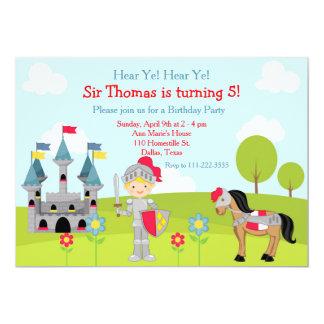 Oiga a la fiesta de cumpleaños linda rubia del invitación 12,7 x 17,8 cm