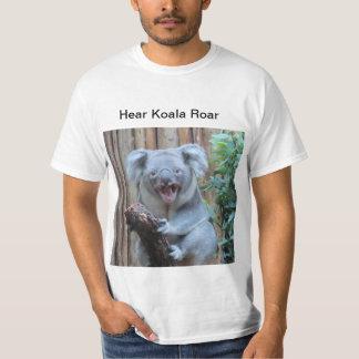Oiga la koala rugir camiseta
