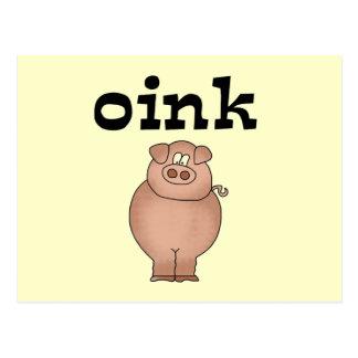 Oink camisetas y regalos del cerdo postal