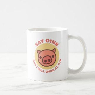 Oink el guarro taza de café