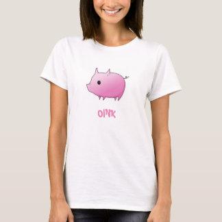 Oink la ropa de las mujeres del cerdo camiseta