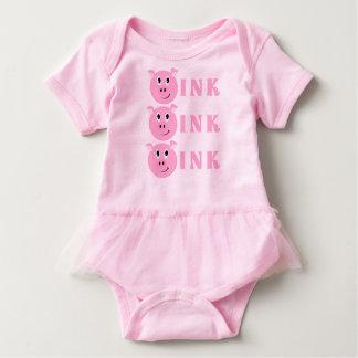 ¡OINK! Pequeños chicas rosados lindos del cerdo Body Para Bebé