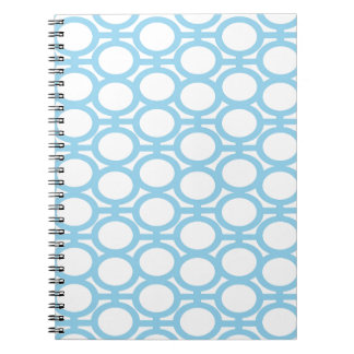 Ojeteador azules claros y blancos libretas espirales