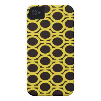 Ojeteador negros y amarillos de la burbuja iPhone 4 Case-Mate coberturas