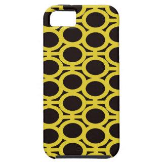 Ojeteador negros y amarillos de la burbuja iPhone 5 cárcasa