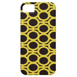 Ojeteador negros y amarillos de la burbuja iPhone 5 coberturas