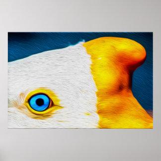 Ojo 04 del pájaro - arte de Digitaces