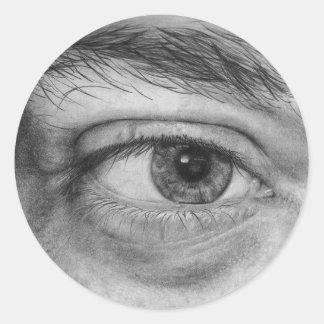 Ojo Calcomanía Etiquetas Redondas
