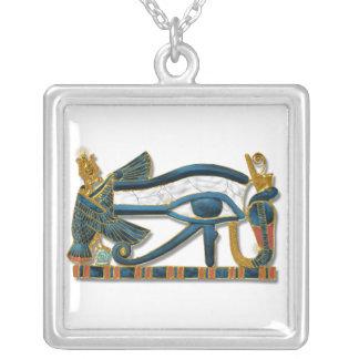 Ojo de Horus Collar Plateado