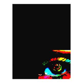 Ojo de la pintada de Digitaces Folleto 21,6 X 28 Cm