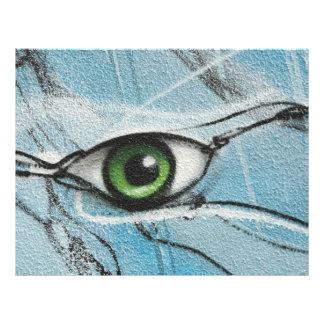 Ojo de la pintada flyer a todo color