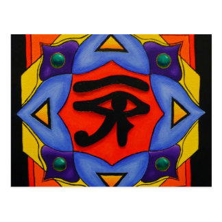Ojo de la postal de Horus
