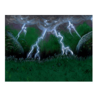Ojo de la postal del estándar de la tormenta