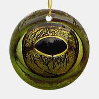 Ojo de la rana adorno redondo de cerámica