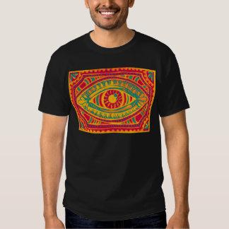 Ojo de los gitanos del ánimo anaranjado camisetas