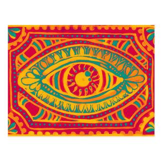 Ojo de los gitanos del ánimo anaranjado postal