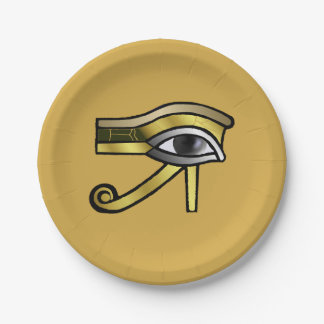 Ojo de oro de Horus Plato De Papel